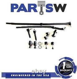 10 Pc Front Steering Kit for Dodge Ram 2500/3500 / Tie Rod Linkages, Ball Joints