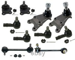 10 Pcs Steering Kit Isuzu Trooper S 3.5L Ball Joints Tie Rods Ends Sway Bar Link