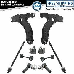 10 Piece Front Steering & Suspension Kit Ball Joint Tie Rods Control Arms for VW
