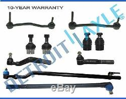 10pc Front Drag Link Tie Rod Ball Joints Ford Excursion F-250 Super Duty 4WD