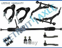 11pc Complete New Manual Steering Rack and Pinion Suspension Kit for Honda Civic