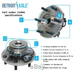 11pc Power Steering Rack Pinion Front Wheel Bearings Kit for Titan Armada withABS