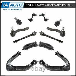 12 Piece Steering & Suspension Kit Control Arms Tie Rods Sway Bar End Links New