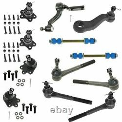 12 Piece Steering & Suspension Kit Tie Rods Ball Joints Idler & Pitman Arms New