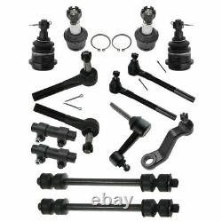 14 Piece Kit LH RH Ball Joint Tie Rod Sway Bar Link for Ram 2500 3500 2WD