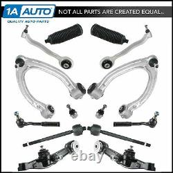 14 Piece Steering & Suspension Kit Upper Lower Control Arms Tie Rods Ball Joints