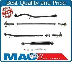1997-2006 Jeep Wrangle Drag Link Tie Rods Track Bar Steering Stabilizer 8Pc KIT