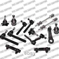 2WD Chevy C1500 C2500 Steering Kit Tie Rod Ball Joint Sway Pitman Idler Arm