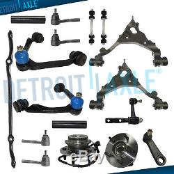 4WD 17pc Front Upper Lower Control Arms Wheel Bearing Kit for 2000-2003 F-150