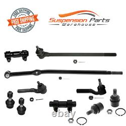 4WD Front Steering Kit Tie Rod Ball Joint (4600 lb Axle) For Ford F-250