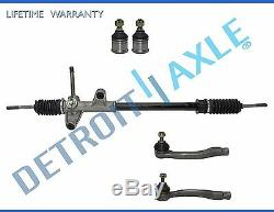 5pc Complete Manual Steering Rack and Pinion Tierods Ball Joints for Honda Civic