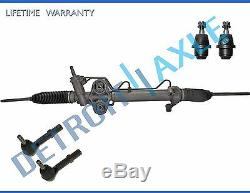 5pc Power Steering Rack and Pinion + 2 Lower Ball Joint + inner & Outer Tierod
