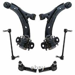 6 Piece Steering & Suspension Kit Control Arms & Ball Joints Tie Rods End Links