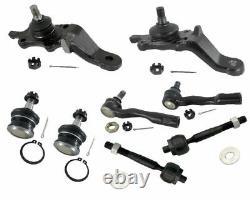 8 Pcs Tie Rods Ball Joints For Toyota Sequoia 4.7L 2001 2002 Suspension Parts