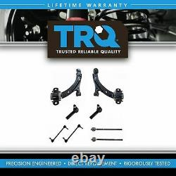 8 Piece Steering & Suspension Kit Control Arms Tie Rods Sway Bar End Links