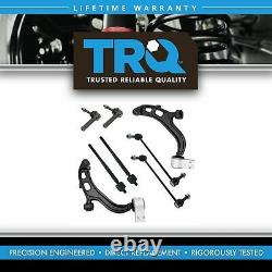 8 Piece Steering & Suspension Kit Control Arms Tie Rods Sway Bar End Links New