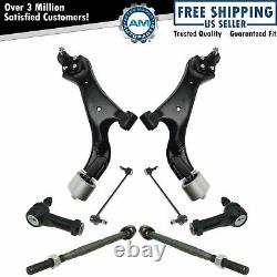 8 Piece Steering Suspension Kit Control Arms with Ball Joints Tie Rods Links