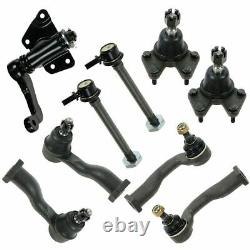 9 Piece Steering & Suspension Kit Ball Joints Sway Bar End Links Tie Rod Ends