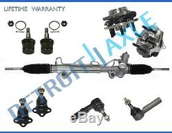 9pc Complete Power Steering Rack and Pinion Suspension Kit for Dodge Dakota
