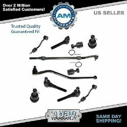 Ball Joint Tie Rod Drag Link Sway Steering Kit 11 Piece for 97-06 Wrangler TJ