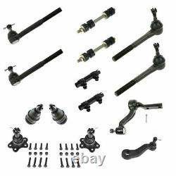Ball Joint Tie Rod Pitman Idler Arm Sway Bar Link 14pc Steering Suspension Kit
