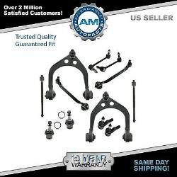 Complete Front 12 Piece Suspension Kit Tie Rods Control Arms Sway Link for Dodge