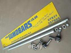 Defender 30mm Solid Heavy Duty Steering Bars Kit Track Rod Drag Link SUMOBAR