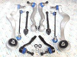 For E60 10PCS FRONT CONTROL ARMS BALL JOINT JOINTS STEERING TIE ROD RODS KIT
