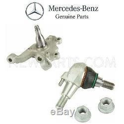 For Mercedes W212 E-Class Sedan Front Left Steering Knuckle and Ball Joint Set
