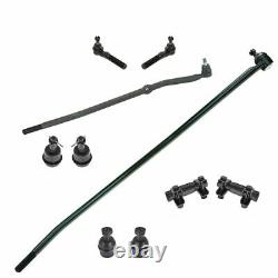 Front 10 Pc Steering Suspension Ball Joint Tie Rods Kit Set for 98-99 Ram 4x4
