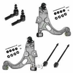 Front Ball Joint Control Arm Tie Rod Sway 8 pc Suspension Kit for Buick Cadillac