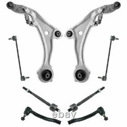 Front Control Arm Ball Joint Tie Rod Sway Bar Link Steering Suspension 8pc Kit
