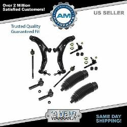 Front Control Arms Tie Rod Bellow Boot Sway Bar Link 10 Piece Kit for Sentra
