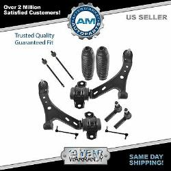 Front Lower Control Arms Ball Joints Sway Links Rack Boots Tie Rods Kit for Ford