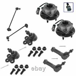 Front Steering & Suspension Kit Set of 8 Ball joints Sway Links Tie Rods Hubs