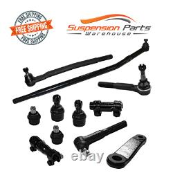 RWD Front Steering Rebuild Kit Tie Rods Ball Joint Pitman Arm Ford Excursion