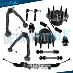 Silverado 1500 2WD Rack & Pinion Front Upper Control Arm Wheel Hub Bearing Kit
