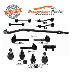 Steering Rebuild Kit Linkage Center Drag Link Ball Joint For 97-06 4WD Jeep TJ