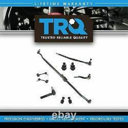 TRQ 10 Piece Kit Tie Rod End Drag Link Ball Joint Sway Bar Link for Jeep JK