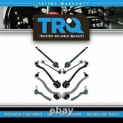 TRQ 10 pc Suspension Kit Set Control Arm Tie Rod Sway Bar End Link for MB C CLK