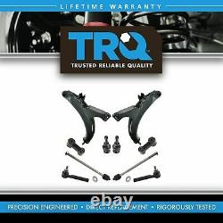 TRQ 10pc Steering & Suspension Kit Control Arms Ball Joints Tie Rods End Links