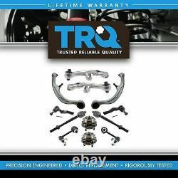 TRQ 12 pc Steering & Suspension Kit Control Arms Wheel Bearings Tie Rods New