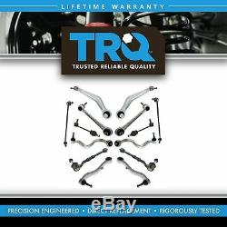 TRQ 14 pc Steering & Suspension Kit Control Arms Tie Rods Sway Bar End Links New