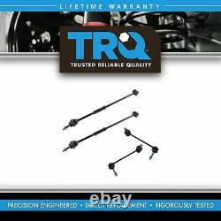 TRQ 4 pc Rear Steering & Suspension Kit Torque Tie Rod Ends Sway Bar End Links