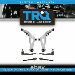 TRQ 6 Piece Steering Suspension Kit Control Arms with Ball Joints Tie Rod Ends
