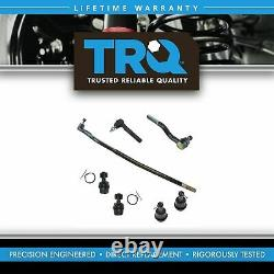 TRQ 7 Piece Steering Suspension Kit Upper Lower Ball Joints with Tie Rod Ends New