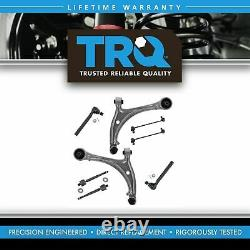 TRQ 8 Piece Kit Front Control Arm Ball Joint Tie Rod Sway Bar Link for Odyssey