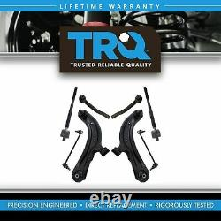 TRQ 8 Piece Steering Suspension Kit Control Arms Tie Rods Sway Bar End Links