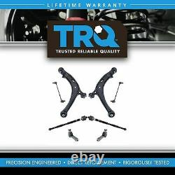TRQ 8 Piece Steering Suspension Kit Control Arms Tie Rods Sway Bar Links New
