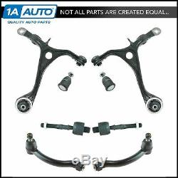 TRQ 8 Piece Steering Suspension Kit Control Arms with Ball Joints Tie Rods for TL